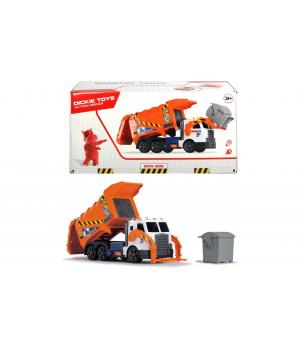 Игрушка мусоровоз большой c контейнером и подъемником, свет, звук, 46 см