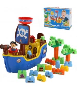"""Детский Набор """"Пиратский корабль"""" с  конструктором 30 деталей 62246"""