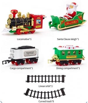 Игрушка рождественская железная дорога, свет,звук, LCF