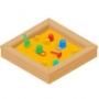 Пластиковые и деревянные песочницы