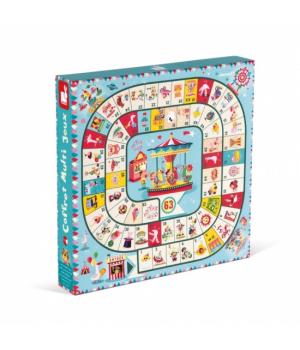Настольные игры для детей, 5 в 1, Janod, от 5 лет