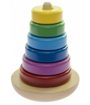 Игрушка пирамидка неваляшка, Башня, goki