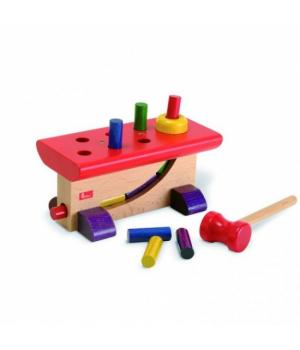 Деревянная развивающая игрушка молоток и сортер, NIC