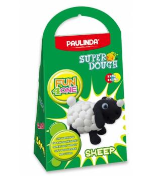Детская масса для лепки Super Dough Fun4one Овечка (подвижные глазки), PAULINDA