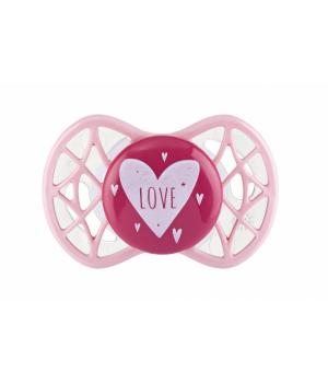 Пустышка для девочки от 0-мес, розовая,  Air55 Cool, Nuvita