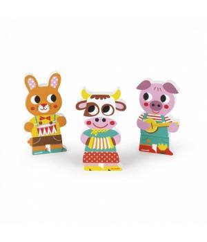 Магнитные фигурки животных, для детей, Janod