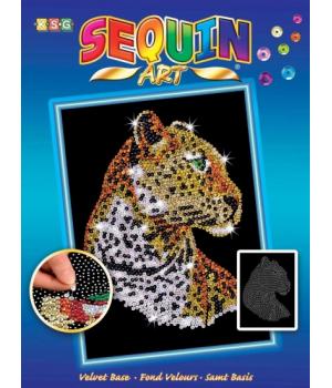 Аппликация из пайеток для детей набор для детского творчества Леопард Sequin Art
