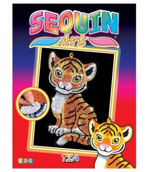 Картина блестками для детей набор для детского творчества Тигренок Sequin Art