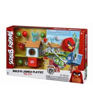 Angry Birds Ігрова фігурка ANB Medium Playset (Pig City Build 'n Launch Playset)