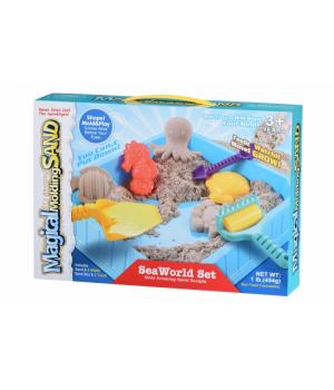 Кинетический песок набор для детей Морской мир, 0,450 кг (натуральный), Same Toy
