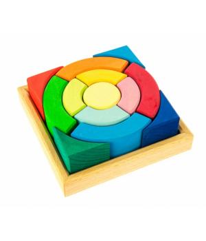 Детский деревянный конструктор Разноцветный круг, nic
