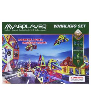 Магнитный конструктор большой набор, 166 шт, MagPlayer