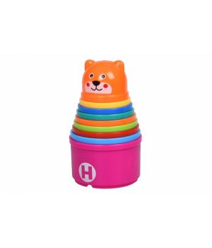 Набор для песочницы пасочки (цифры-буквы англ) - Чашки 9шт, Same Toy