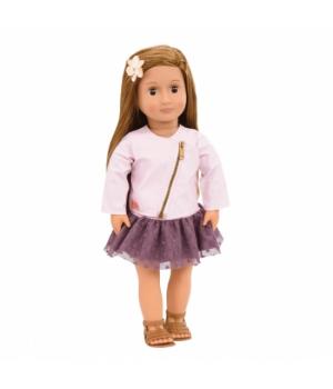 Our Generation Лялька Віена (46 см) в рожевій шкіряній куртці