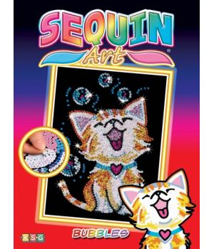 Аппликация из пайеток для детей Набор для детского творчества Котенок Sequin Art