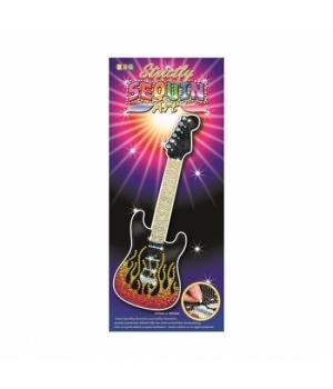 Картина из пайеток набор для творчества Гитара Sequin Art