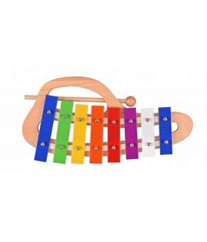 goki Музичний інструмент - Ксилофон веселка з ручкою