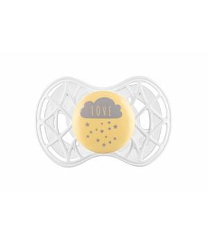 Пустышка с 6 месяцев желтая, силиконовая симметричная, Air55 Cool, Nuvita