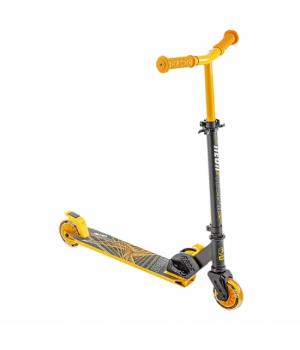 Складной детский самокат двухколесный, колеса с подсветкой, желтый, от 5 лет, NEON Vector