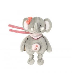 Мягкая игрушка слон Адель (24 см) с музыкой Nattou