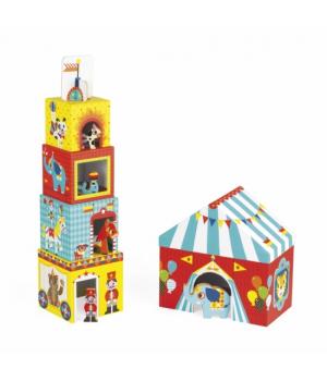 Детские кубики картонные, Цирк, Janod