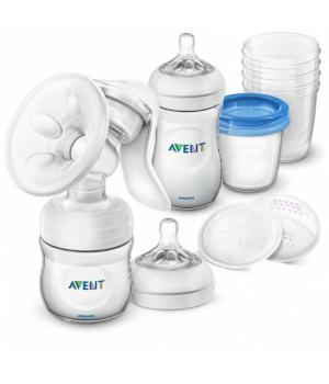 Avent Ручний молоковідсмоктувач Natural, з набором для зберігання SCD221/00