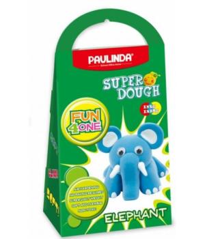 Детская масса для лепки Super Dough Fun4one Слоненок (подвижные глазки), PAULINDA