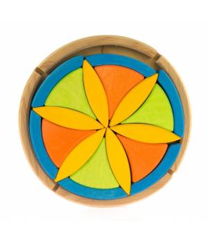 Детский деревянный конструктор Цветок nic