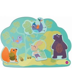 Настенная игрушка Veritiplay Веселый кролик и его друзья, Oribel