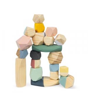 Балансир игрушка пирамидка, камни, Janod Sweet Cocoon