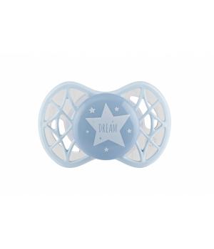 Пустышка силиконовая симметрическая Air55 Cool 0m+, для мальчика, Nuvita