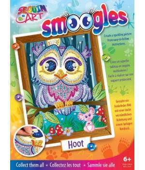 Картина пайетками для детей набор для детского творчества Сова Sequin Art