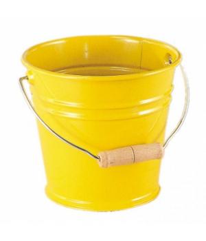 Детское ведро металлическое 15 см, (желтое), NIC