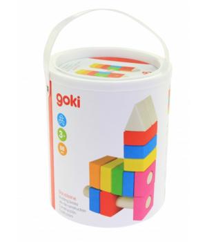 goki Конструктор дерев'яний Будівельні блоки (рожевий)