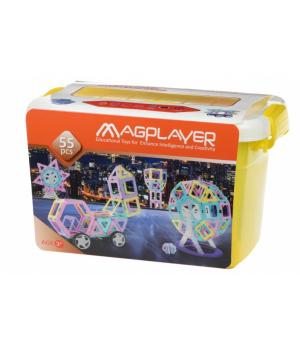 Магнитный конструктор в боксе для девочки, 55 деталей, MagPlayer