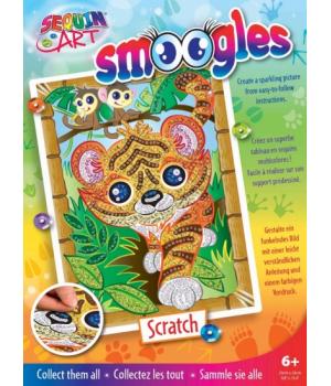 Аппликация из пайеток для детей набор для детского творчества Тигр Sequin Art