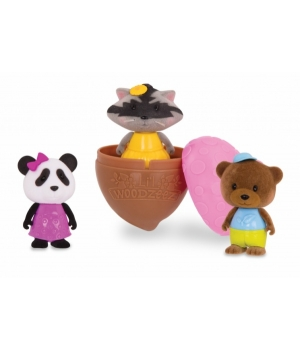 Li`l Woodzeez Іграшка Bobblehead (3 од.) Серія 3