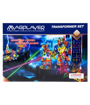 Магнитный конструктор большой набор, 208 шт, MagPlayer