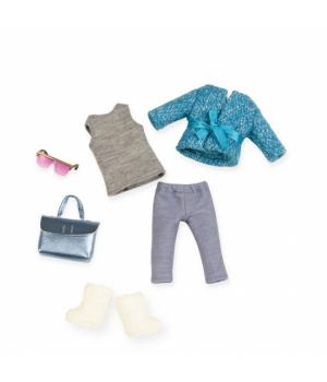 LORI Набір одягу для ляльок - Блакитне пальто