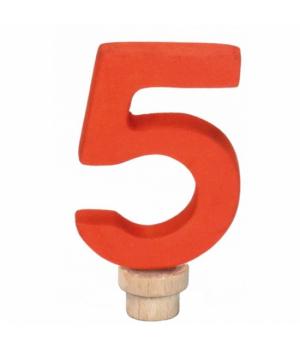 Цифра для торта 5, деревянная, nic
