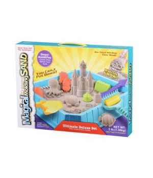 Кинетический песок большой набор для детей, Подводный мир, 1,36 кг (натуральный) Same Toy