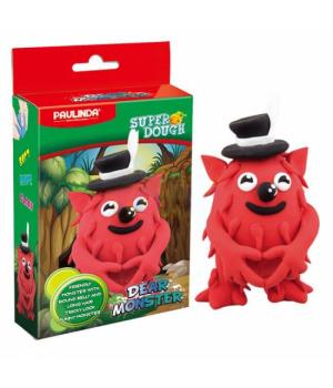 Детская масса для лепки Super Dough Dear Monster красный, PAULINDA