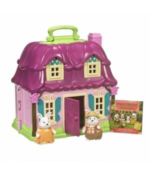 Li`l Woodzeez Ігровий набір - Квітковий дім і Сім'я Кроликів