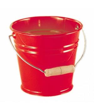 Детское ведро металлическое 15 см, (красное), NIC