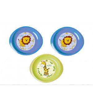 Nuvita Набір тарілочок 6м+ 3шт. дрібні (сині і салатова)