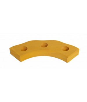 nic Підсвічник святковий дерев'яний напівкруглий жовтий