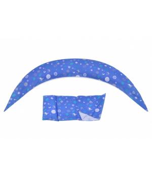 Nuvita Подушка для вагітних 10 в 1 DreamWizard (синя)