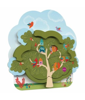 Настенная игрушка Veritiplay Дом мистера Белки на дереве, Oribel