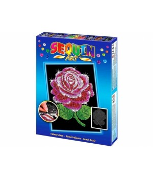 Картина блестками для детей Красная роза Sequin Art
