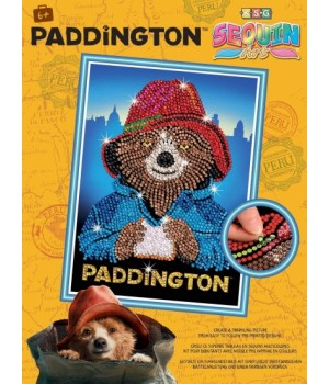 Картина блестками для детей Мишка Паддингтон Sequin Art